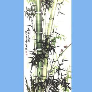 湖南人,擅长画花鸟尤其擅长画竹子,中国书画院理事吕山泉(高风亮节)