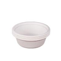 吃生日盘 一次性纸盘子加厚可降解手工幼儿园生日烧烤餐具纸盘50只批发 BX 500ml碗
