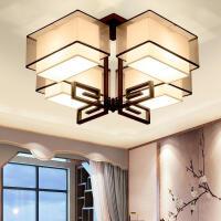 家亮现代新中式客厅吸顶灯卧室餐厅方形灯简约中国风仿古灯具 MX97