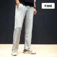 新款春夏男士运动裤直筒休闲长裤加肥加大码卫裤男跑步宽松潮