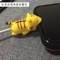 苹果数据线保护套5可爱iPhoneX/6/7/8手机充电线保护头ipad防折断创意