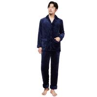 【网易严选 顺丰配送】男式珊瑚绒家居服套装(上衣+裤子)