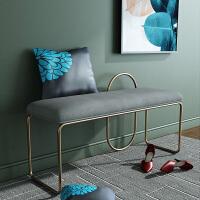 北欧ins换鞋凳现代创意门口穿鞋凳铁艺长凳服装店时尚长椅休闲椅