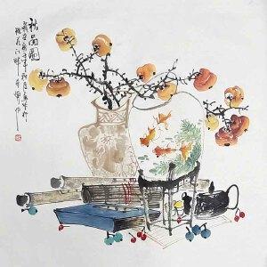*美术师,河南省美协理事,中国书画名家理事会理事许鲁(秋品图)