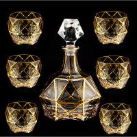 新品水晶玻璃大号威士忌杯四方杯水杯烈酒啤酒杯洋酒杯子套装