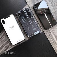 情侣个性创意苹果x手机壳8潮男 iphone6女iphonex玻璃套7plus 苹果X 充电