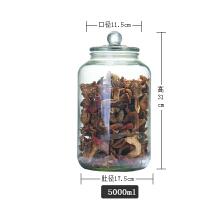 密封瓶玻璃储物罐食品存储罐五谷杂粮防潮罐陈皮小青柑药材陈列罐 5000ml 10斤装