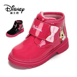 【达芙妮集团】迪士尼 冬款女童鞋米妮休闲时尚童靴冬靴