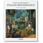 现货TASCHEN原版What Great Paintings Say: Italian Renaissance意大利