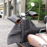 电动车挡风被冬季踏板摩托车保暖加绒加厚防水寒电瓶车分体防风罩