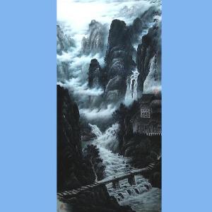 现为越世阁画院院长,中国艺术学会会员,艺宝在线特聘画家易剑赋(润物细无声)