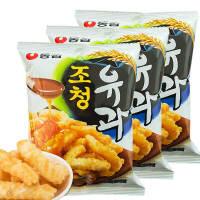 【包邮】韩国进口 农心甜味油果蜂蜜果酥脆条96g*3袋