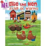 【中商海外直订】Ellie the Hen Afraid of Worms