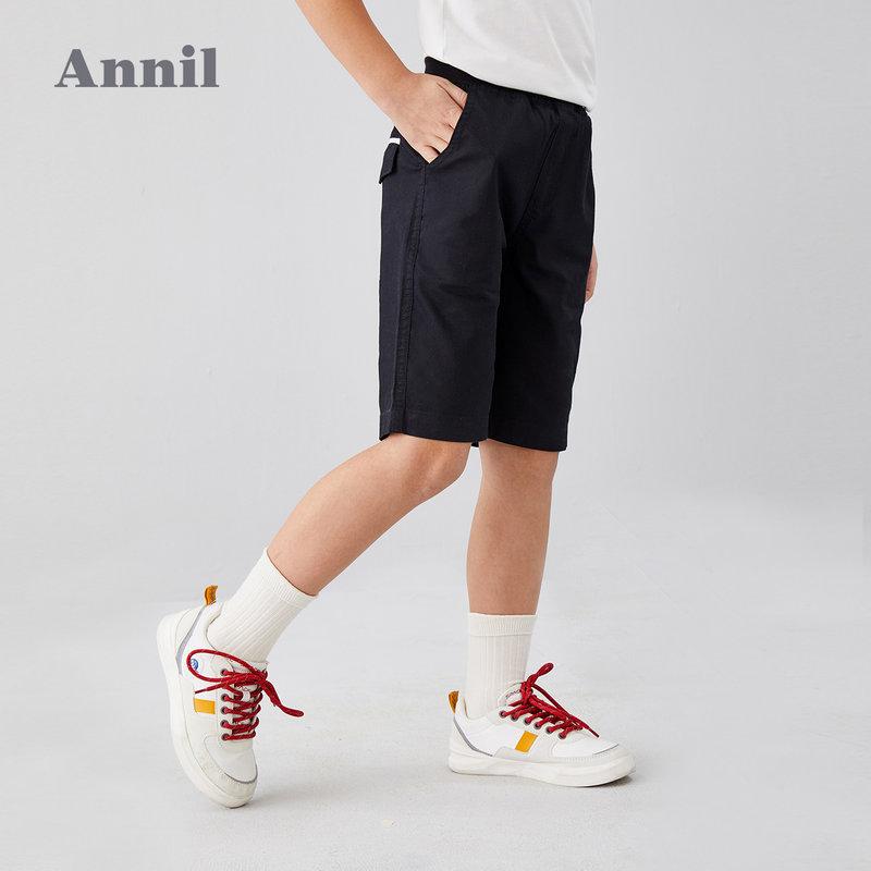 【活动价:109.5】安奈儿童装男童短裤2020夏季新款洋气中大童五分裤子透气学生中裤