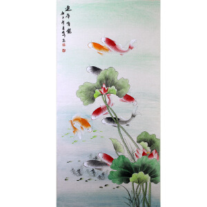侯桂峰,中国美协会员,中国书协协会会员【连年有余】'13