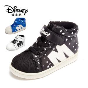 鞋柜/迪士尼男童鞋运动休闲鞋斑点高帮平底鞋