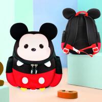 幼儿园书包女男童宝宝3-5岁米奇卡通可爱防走失双肩小背包