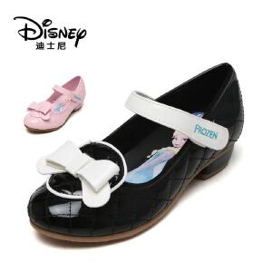 【达芙妮集团】迪士尼 秋款公主鞋小皮鞋低跟冰雪奇缘女童鞋