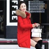 2019冬季羽绒服女中长款韩国韩版时尚修身大毛领