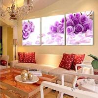 客厅装饰画沙发背景墙挂画餐厅卧室无框壁画现代三联画抽象人物 7
