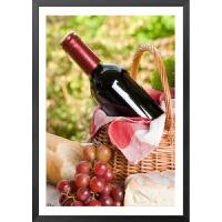 餐厅装饰画葡萄酒杯水果画客厅挂画现代简约壁画三联画玄关墙画横R