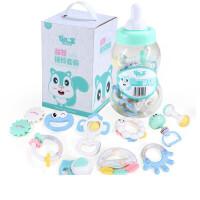 奶瓶摇铃 手摇铃玩具婴儿0-1岁手拿手抓套装可咬软胶3-6-12个月4宝宝