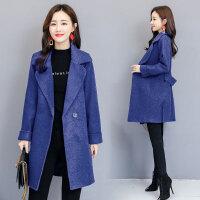 RANJU然聚2018秋冬季女装新品新款韩版显瘦呢子大衣中长款毛呢外套女潮