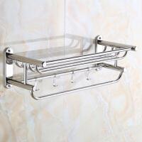 毛巾架不锈钢304毛巾杆浴室置物架卫生间浴巾架欧式卫浴五金挂件