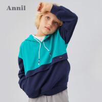 【活动价:169】安奈儿童装男童卫衣2020春季新款中大童国潮款休闲打底上衣T恤衫