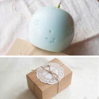 手工陶瓷风铃挂饰日式和风汽车挂件家居装饰品创意生日礼物 礼盒