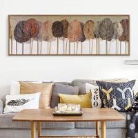 卧室床头美式现代简约沙发后背景墙客厅挂画墙壁北欧工业风装饰画 170*60 优雅黑边框 单幅成品