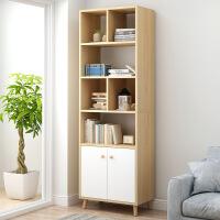 【限时直降】橡胶木色北欧书架简约置物架学生卧室落地小书柜简易客厅省空间经济型