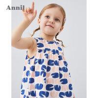 【3件3折预估到手价:41.7】安奈儿童装女童背心裙纯棉2020夏季新款2宽松3岁女孩裙子宝宝上衣