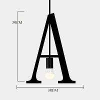 创意个性工业风字母灯单头小吊灯服装店装饰灯橱窗现代简约铁艺灯 A款