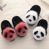 儿童棉拖鞋包跟冬女童冬季保暖可爱fang滑软底男童小孩拖鞋室内冬天
