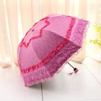 创意公主伞花边蕾丝太阳伞防紫外线折叠黑胶防晒遮阳伞女
