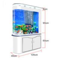 鱼缸水族箱1.2米客厅屏风玄关玻璃大型免换水底过滤头金鱼缸