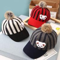 韩版宝宝帽子鸭舌帽婴儿遮阳可爱棒球帽秋冬2-3-4岁