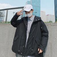冬季外套男韩版潮流学生中长款棉衣宽松棉服棉袄子冬装冬天衣服