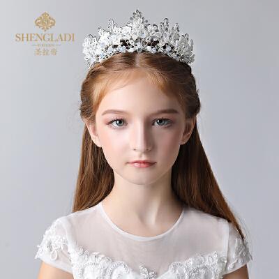 儿童头饰皇冠发饰王冠水晶饰品模特走秀皇冠头饰女孩