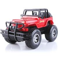 小孩儿玩具汽车 儿童超大号惯性吉普车玩具抗耐摔仿真越野汽车模型男孩幼儿园礼物 红色 袋装