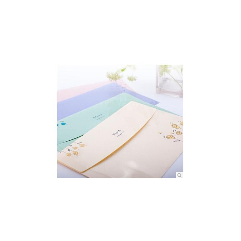 树德新款资料袋 A4 浪漫花香系列 可爱文件袋FB202 *袋 一包10个