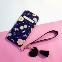iphone6日�n手�C��6s�O果7plus手�C�じ〉窆枘z套i8p防摔卡通��� 7/8(4.7寸) 花朵款