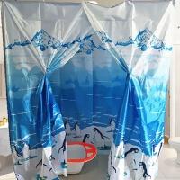 涤纶布撕不破小孩冬天家用洗澡浴帐浴罩加大加厚保暖保温淋浴