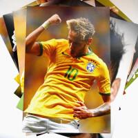 内马尔海报 墙贴宿舍壁纸画 巴萨足球Neymar写真海报