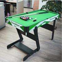 六一儿童节礼物台球桌儿童标准美式家用大号折叠木制黑8桌球台娱乐运动休闲玩具台球游戏桌 绿色 1126绿色折叠款