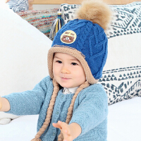 儿童护耳帽秋冬季婴幼儿绒款冬季帽子