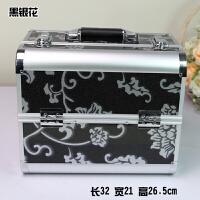 大号化妆工具收纳箱大容量美容工具箱美甲纹绣跟妆收纳箱多层