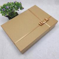 礼品包装盒 黑色红色长方形精致礼品盒大号婚纱礼服相框简约包装盒定制 油画 长65*宽55*高10(cm)