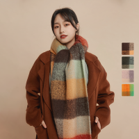 【每满99减15】网易严选 女式时尚大格型暖感围巾